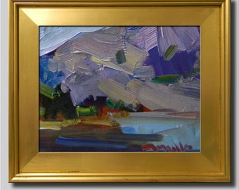 Plein Air Landscape Painting, Impressionist Oil, Water Landscape, River Painting, Lake Painting, Seascape Painting, Abstract Painting