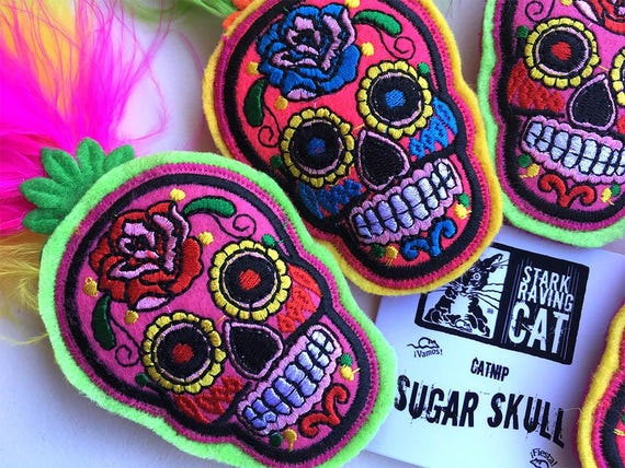 Sugar Skull Catnip Cat Toy