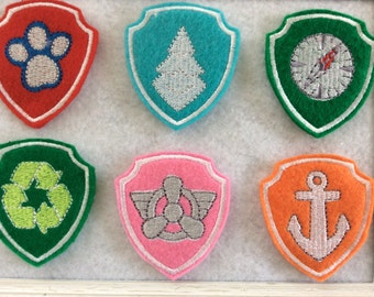 Dog Badge Felties   6 To Choose From.  Always Precut