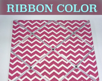 Custom Hot Pink Chevron French Memo Board Hot Pink Memo Board