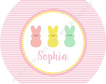 Bunny melamine plate- Personalized melamine plate- Personalized plate- Kids plate- Bunny - Personalized with name - Girl