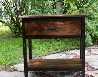 15% OFF EQUINOX SALE!!  End Table, Furniture, Table, Nightstand, Rustic End Table, Sofa Table, Bedroom Furniture, Rustic Night Stand