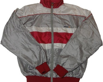 80s vintage ellesse nylon jacket made in Italy