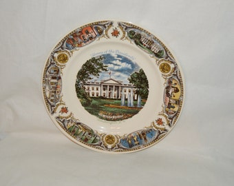 The White House A Capsco Plate Circa 1950's Warranted 22k Made in the USA