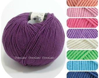Soft Cotton Yarn, polyacryl yarn, YarnArt Jeans, soft yarn, Crochet yarn, Knitting yarn, Sport yarn, summer crochet yarn, baby yarn