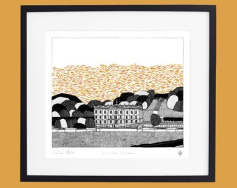 Chatsworth House- In the Autumn screen print