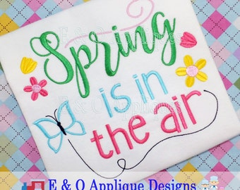 Spring Is In The Air Embroidery Design - Spring Embroidery Design - Butterfly Embroidery Design - Floral Embroidery Desgin - Digital Design