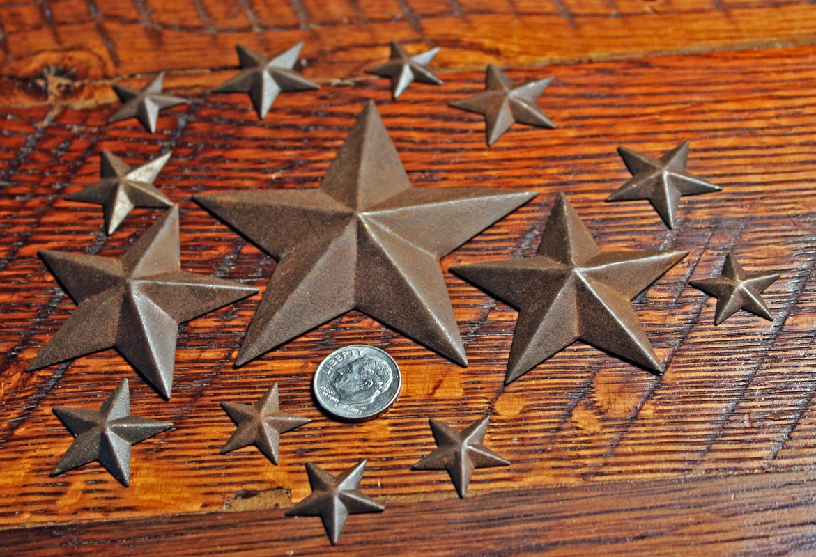 Rustic stars for crafts -  3 99