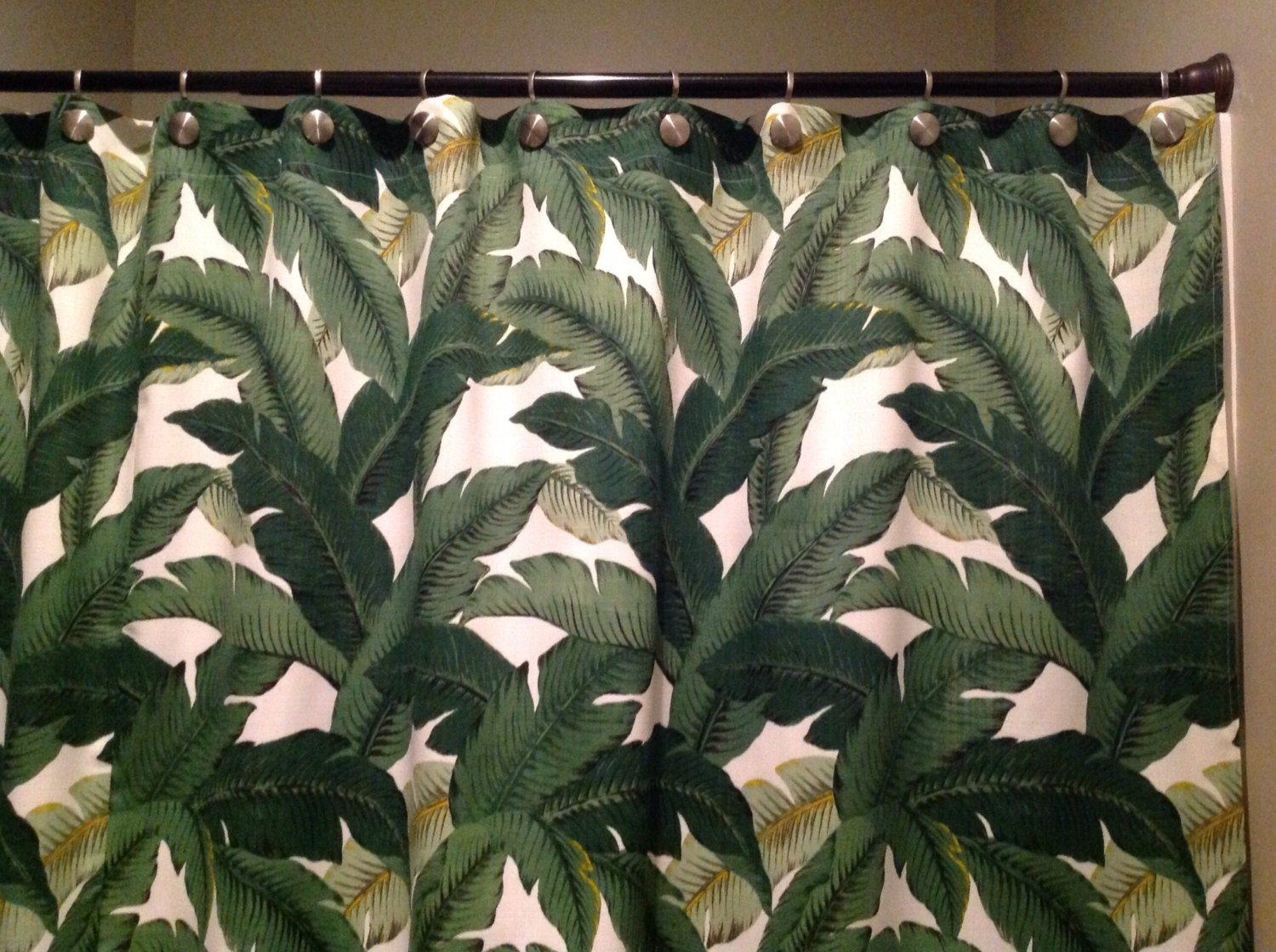 Palm shower curtain -  Zoom