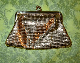Vintage Whiting & Davis Gold Mesh Change Purse Wallet