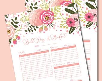 printable bill pay log bill pay tracker bill tracker log bill pay organizer - Bills Organizer