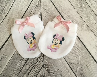 Cute Minnie Mouse Inspired Baby Scratch Mitts