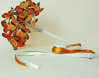Bouquet with butterflies.