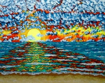 Sun Setting On Lake Michigan (ORIGINAL DIGITAL DOWNLOAD) by Mike Kraus