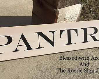Pantry sign, Jumbo pantry sign, kitchen signs, county kitchen signs, Rustic kitchen sign, Rustic kitchen decor, farmhouse sign,