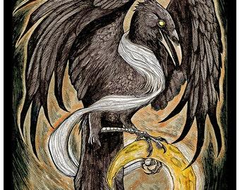 Luna Corvus 8x10 Art Print