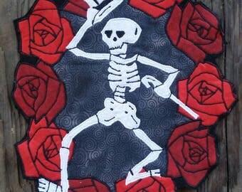 Large Grateful Dead Dancing Skeleton Back Patch
