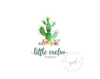Premade Cactus Logo Photography Logo  Business Logo  Branding Logo  Floral Logo  Photography Logo  Calligraphy Logo Cactus