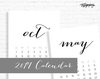 EARLYBIRD SALE! 30% OFF! 2017 Handwritten Script Calendar
