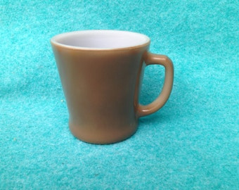 Fire-King Glass Fired-On Colors Standard D-Handled Mug Brown