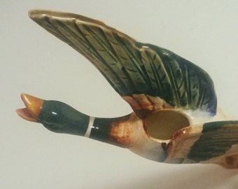 Vintage Ceramic Duck Planter, Decor
