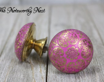 Pink knobs Etsy