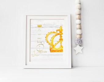 Prince Crown A4 print