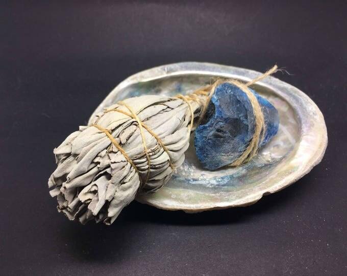 Smudge Kit California White Sage & Agate (Blue) - WSAB01