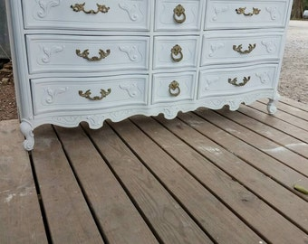 Ornate French Provincial Dresser by Bassett