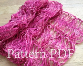 Pattern Hairpin lace loom scarf/ Pattern crochet scarf/ Crochet Pattern/ Hairpin lace pattern/ Lace scarf pattern/ Lace wrap pattern/ Gift
