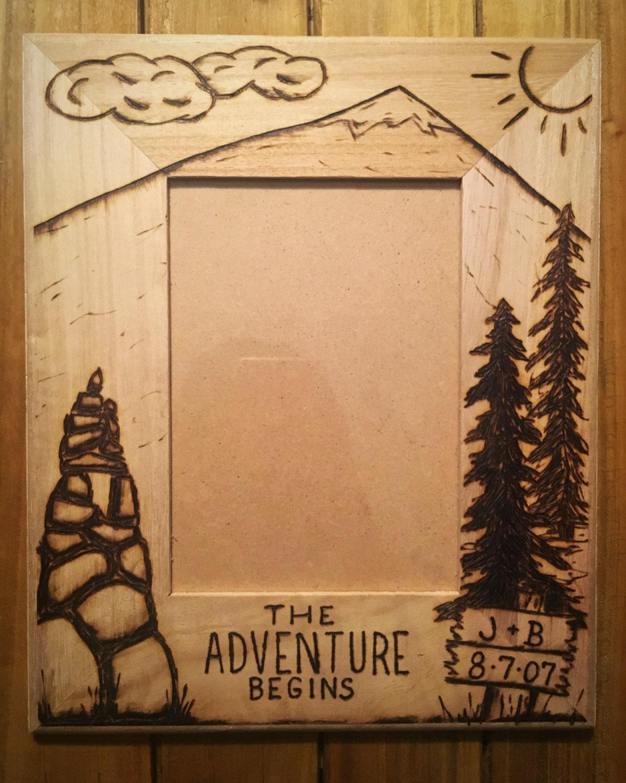 description tree picture frame wood burned - Wood Burning Picture Frame