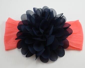 Girls headband with large flower