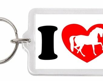 I Love Horses Unique Keyring Birthday Gift