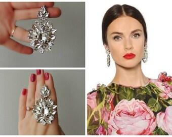 Earrings  Dolce style  - Diamond flower