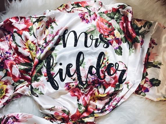 Custom Floral Robes | Floral Bridesmaid Robes
