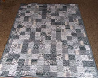 Twin Size Quilt - Supply Your Own Fabrics - Custom Made Quilt - Patchwork Quilt - 50% Deposit