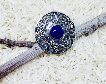 Lapis Lazuli sterling silver(92.5) ring. Natural authentic stone.Size -7