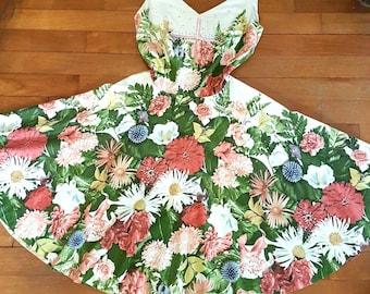 1950s Floral Vintage Dress