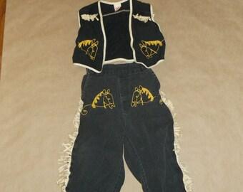 Vintage 1950's Boys Cowboy Outfit
