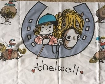 Rare Thelwell Pony Panels in cotton