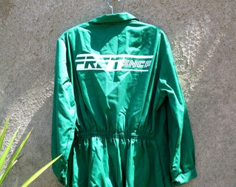 Green French workwear coveralls / overalls / boiler suit, SNCF railroad worker - little green men? Big ones! XL - XXL
