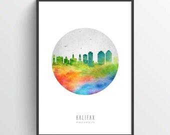 Halifax Poster, Halifax Skyline, Halifax Cityscape, Halifax Print, Halifax Art, Halifax Decor, Home Decor, Gift Idea. CANSHX20P