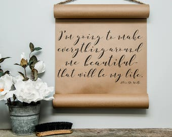 Mini Beautiful Life Scroll