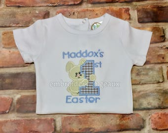 My First Easter Outfit Boy, Personalized First Easter Bodysuit, My First Easter Bodysuit, Baby Boy First Easter Outfit