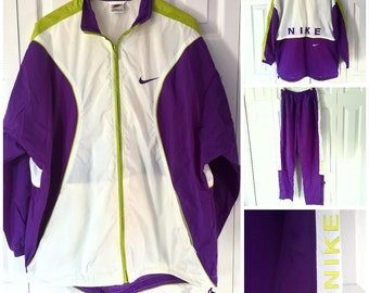 Vintage Nike Windbreaker Set Large