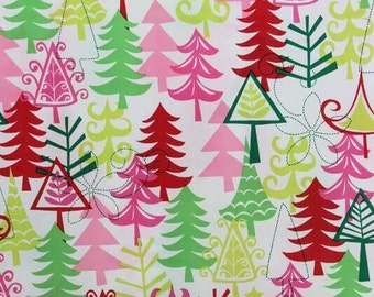 Yule Trees Michael Miller 100% Cotton Fabric CX3637 FQ 1/2 Full Metre