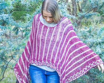 Crochet Poncho Pattern – Luxurious Layers Collection – Poncho Pattern – Fancy Edge