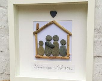 New Home - Cornish Pebble Art Picture