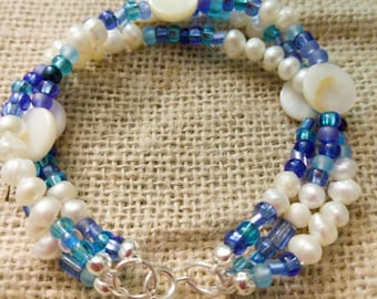 Multi-Strand Beachy Summer Bracelet