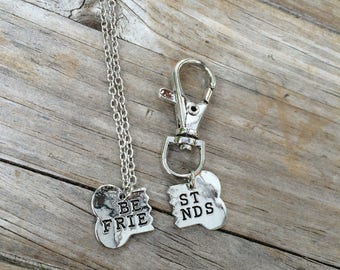 Best Friends Dog Necklace and Keychain, Dog Friends Necklace,  Dog Tag, Best Friends Dog tag, matching set, gifts for a dog